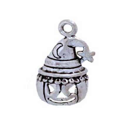 Jack O Lantern w/ Wizards Hat Charm