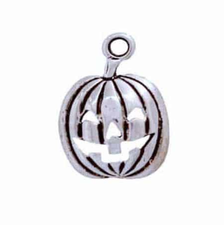 Silver Jack o' Lantern Charm
