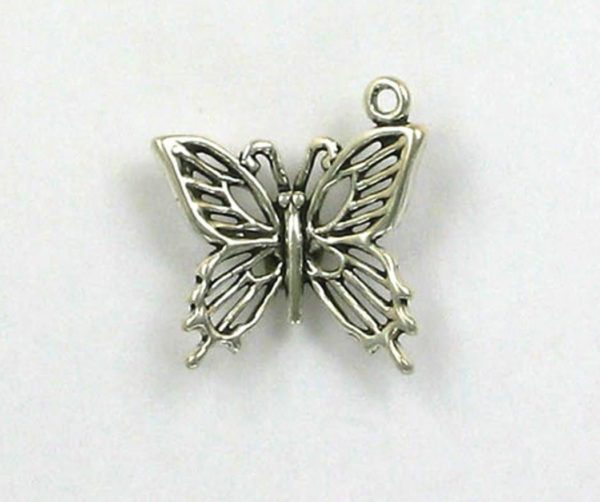Sterling Silver 20mm 3-D Butterfly Charm