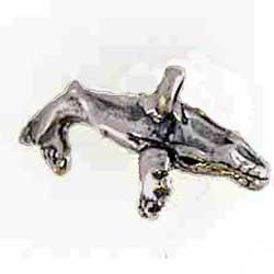 Sterling Silver 3-D 16mm Humpback Whale Charm