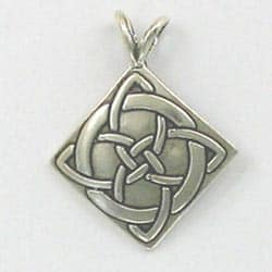 Sterling Silver 25mm Celtic Luck Symbol Pendant
