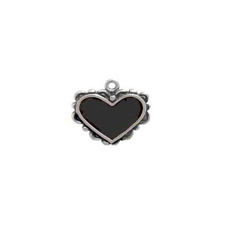 Enameled Heart Charm