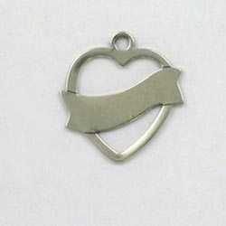 Sterling Silver 22mm Engravable Heart Charm