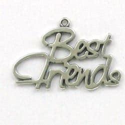 Sterling Silver 2 Fancy Best Friends Charm