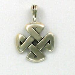 "Sterling Silver Celtic ""Strength"" Knot Pendant"