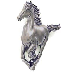 Sterling Silver Running Horse Pendant