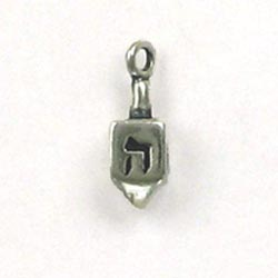 Sterling Silver 3-D Dreidel Charm