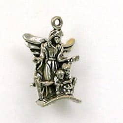 Sterling Silver 3-D Guardian Angel Charm