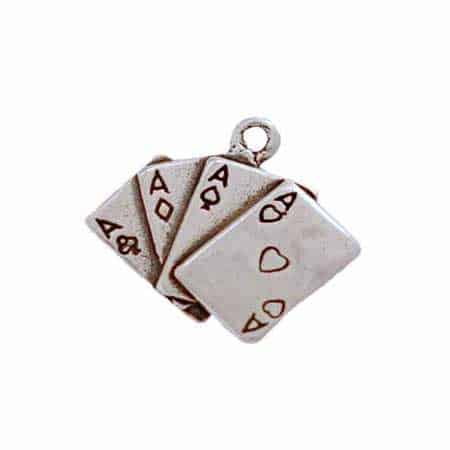 Aces Playing Cards Charm