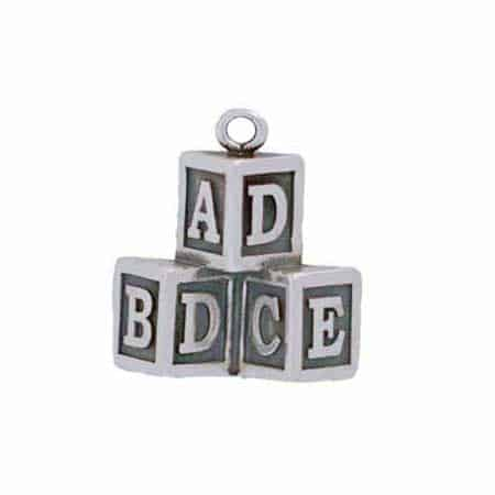 Alphabet Toy Blocks Charm