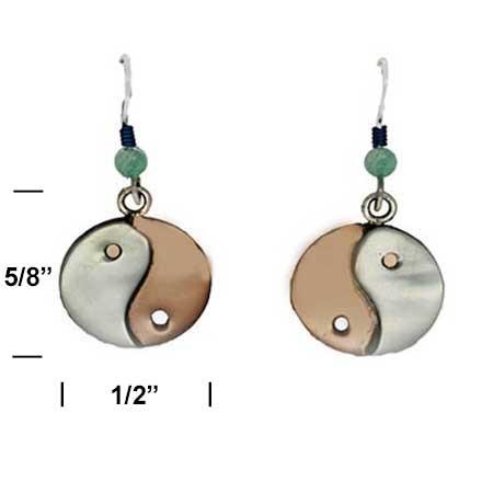 Yin Yang Dangle Earrings measurement