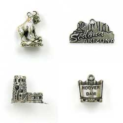 Sterling Silver Landmarks and Parks Charms for Memorabilia