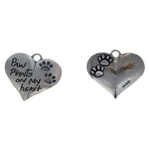 Sterling Silver Dog Paw Print Pendant