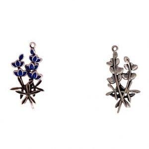 Enameled Blue Bonnet Flowers