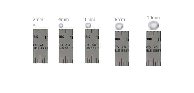 bead size ruler mm picture