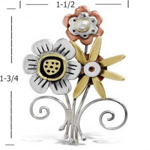 fiesta floral pin far fetched measurements