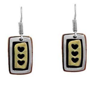 triple heart earrings far fetched