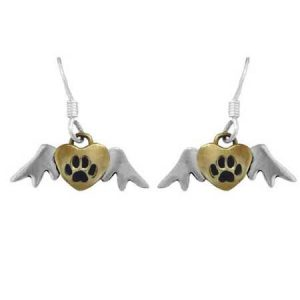 winged dog paw earring far fetched
