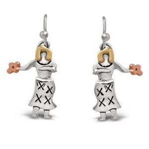 hula dancer earrings far fetched