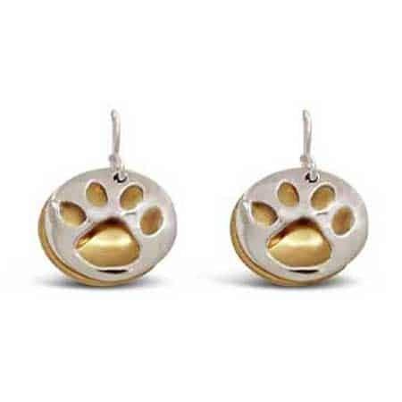 paw print earrings far fetched