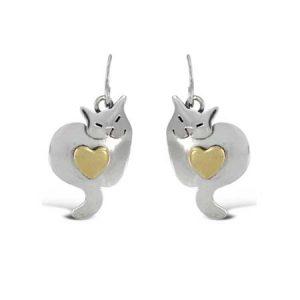 Sweet Kitty Dangle Earrings far fetched