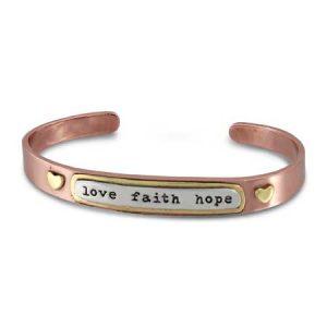 Love Faith Hope Bracelet far fetched cuff bracelet