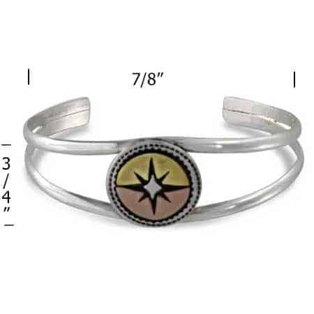 Compass Cuff Bracelet