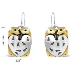 blooming love dangle earrings measurement