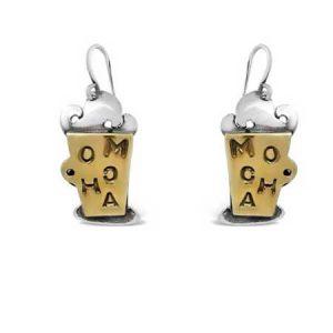 mocha dangle earrings far fetched