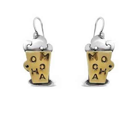 Mocha Coffee Dangle Earrings