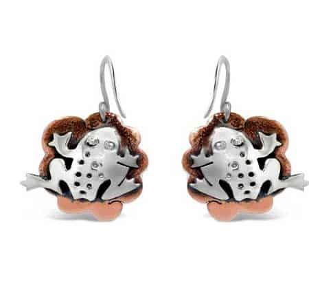Lily Pad Toad Earrings