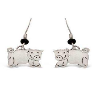 pig dangle earrings far fetched