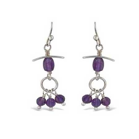 Amethyst Accent #102 Dangle Earrings