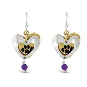 Paw Heart Dangle Earrings Far Fetched