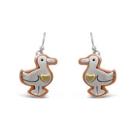 precious duck earrings heifer international
