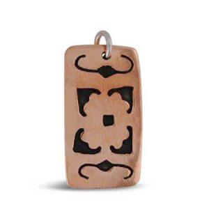 rectangle copper pendant