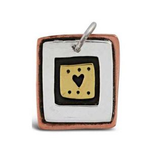 dotted heart pendant far fetched
