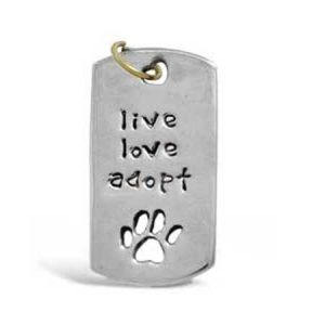 live love adopt paw pendant far fetched