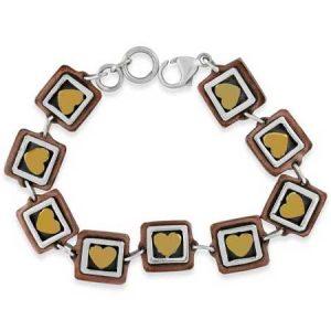 Framed Hearts Bracelet -far-fetched