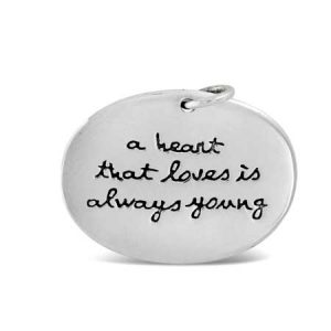 a heart that loves is always young Pendant Far Fetched