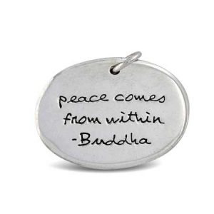 peace comes from within Medallion Pendant Far Fetched