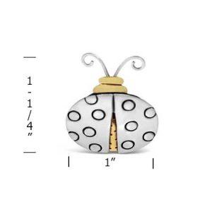 Gramma Ladybug Pin measurement