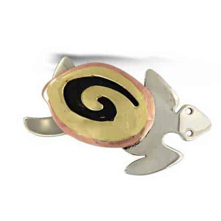 swirly sea turtle pin far fetched