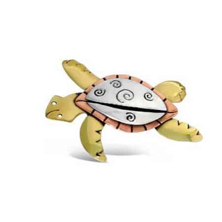 Swirl Turtle Pin Far Fetched