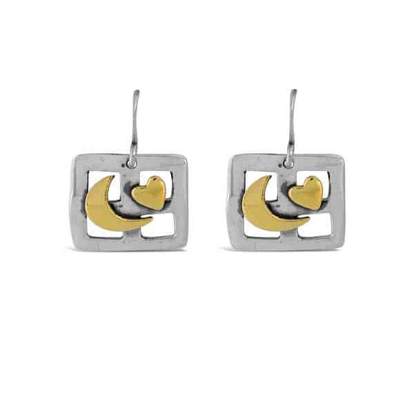 Good Night Moon Dangle Earrings far fetched