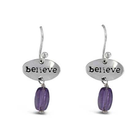 Believe Gemstone Earrings