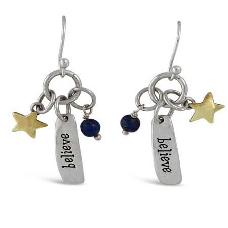 Believe Story Dangle Earrings