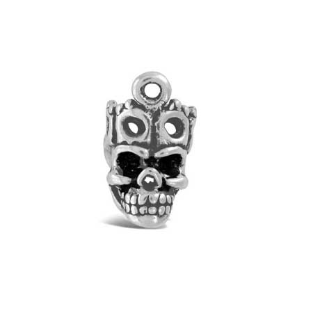Crowned Skull Charm