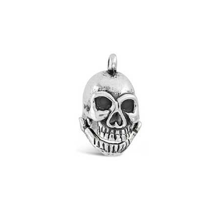 Skull with Movable Jaw Charm