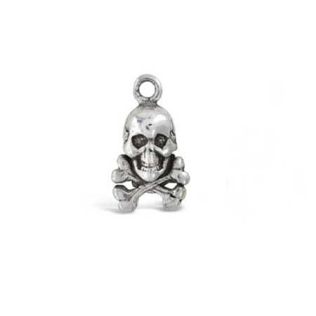 Skull-Crossbones-Charm